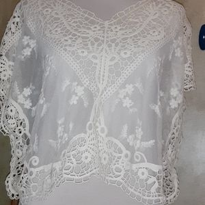 LACE THROW OVER